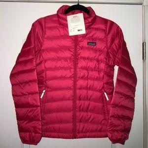 NWT Patagonia girls down sweater jacket pink L 12